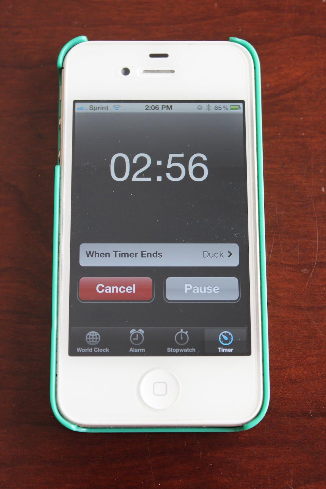 Как поставить таймер на айфоне при