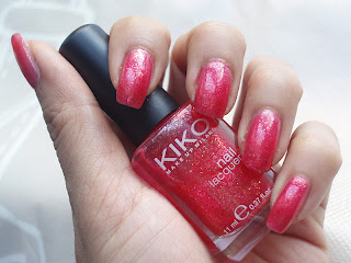 NOTD: Kiko Rosso Glitter Sparkle Touch