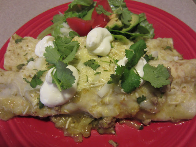 Turkey and Zucchini Enchiladas with Tomatillo Verde Sauce  Healthy and delicious Mexican fare!  Ole!