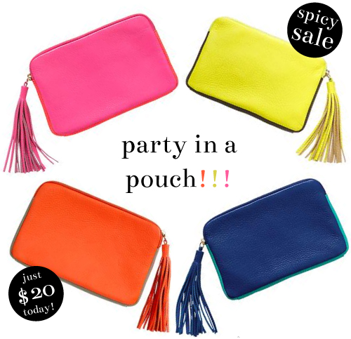 StyleAndPepperBlog.com : : Spicy Sale // Pretty Party Pouches