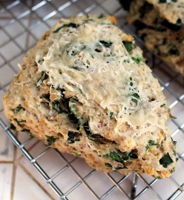 Multigrain chard parmesan scones