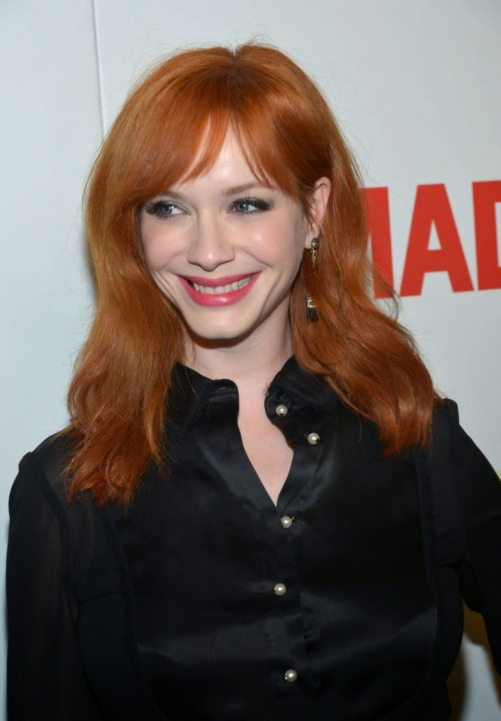 Christina Hendricks shows off curves at the 'Mad Men' Season 7 premiere