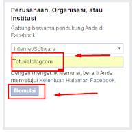 Halaman Fanspage FaceBook untuk Blog