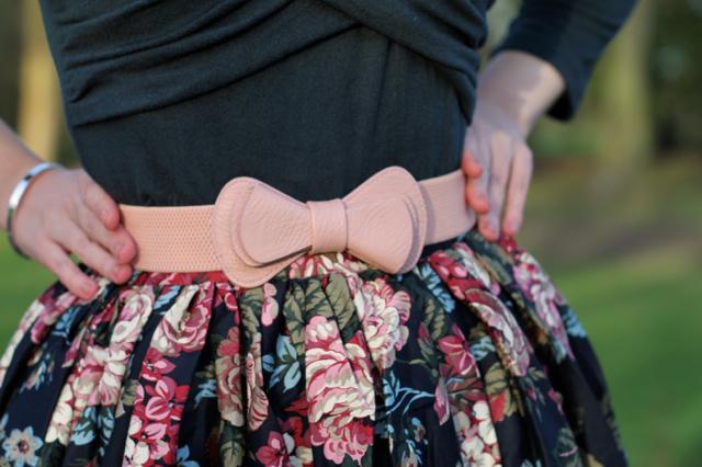 Collectif Celina top, bow belt and Jasmine skirt