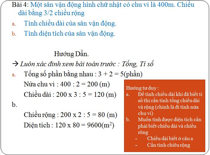 Các bài tập về tìm hai hay nhiều số khi biết tổng, hiệu và tỉ số - toán lớp 5(6)