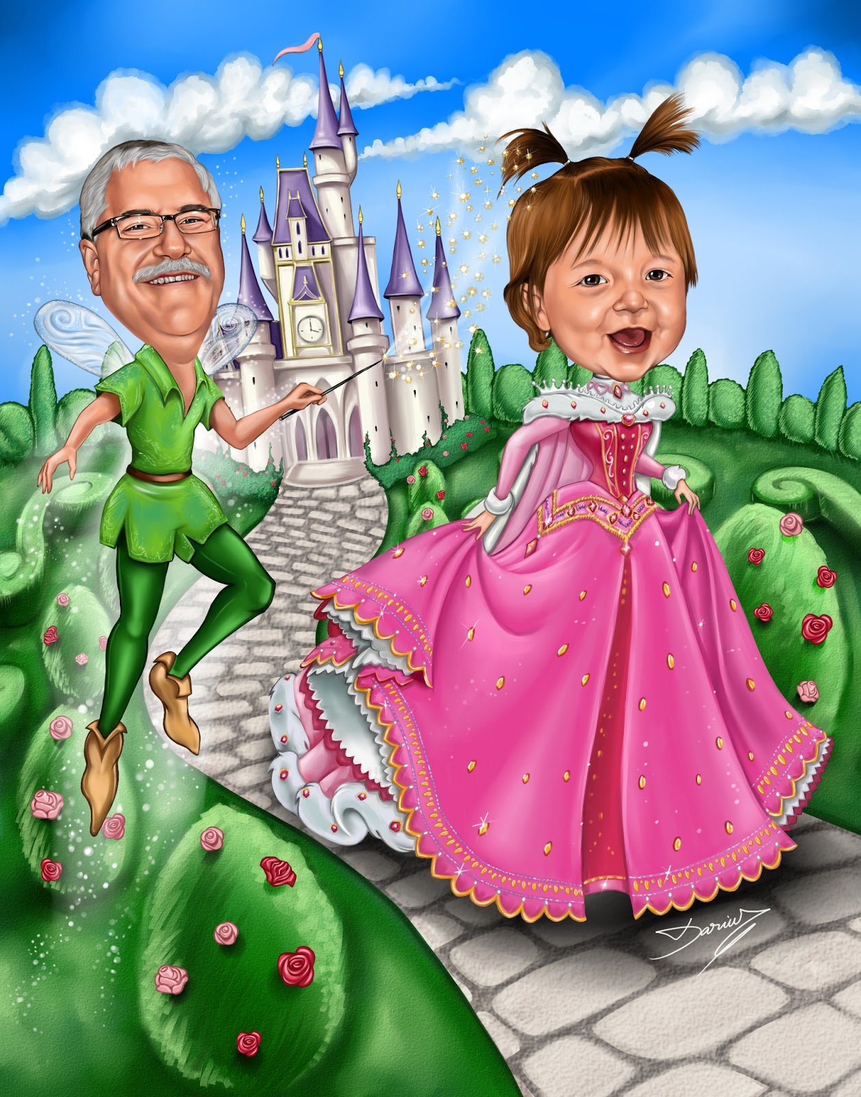 Fairytale Caricature Princess