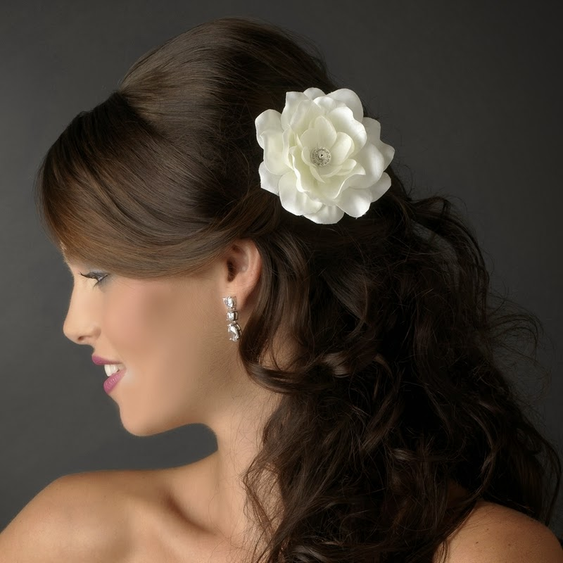 Weddig hair bridal hair flowers roses are mainstream wedding hair blossoms the blossoms can be worn as hair clips some bloom adornments incorporate rhinestones you can wear the blossoms mightylinksfo