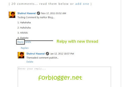 Threaded Comment Blogger