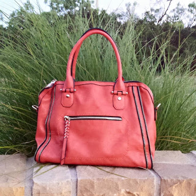 Urban Expressions -- Elisha Zipper Accent Structured Satchel