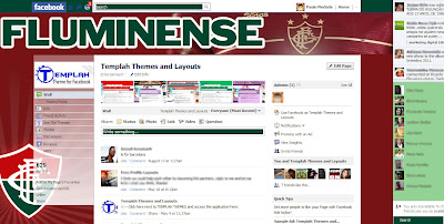 facebook skin layout - Tema para Facebook do fluminense