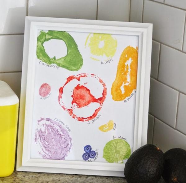 C mo pintar con verduras y frutas manualidades - Materiales de pintura de pared ...