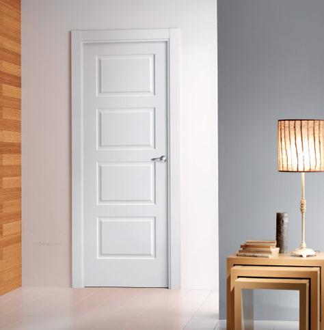 Puerta lacada mod 4200 serie lacadas proma artideco - Puertas de madera en blanco ...