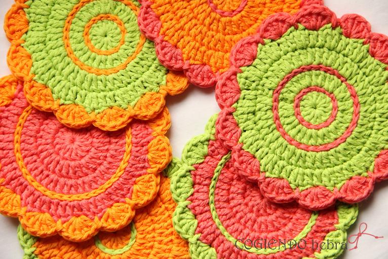 Graficos de posavasos a crochet imagui - Posavasos de ganchillo ...