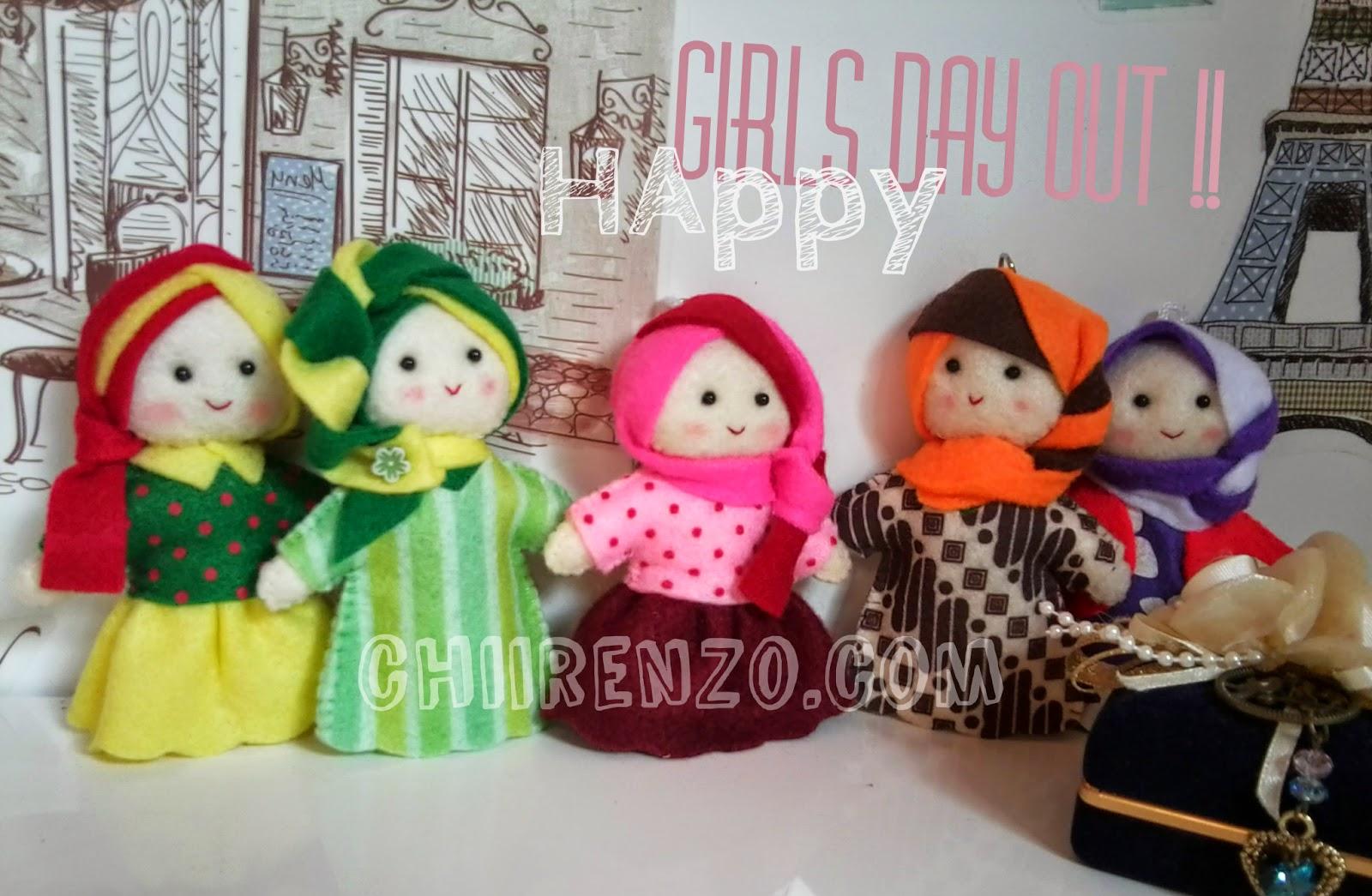 boneka mini hijab flanel