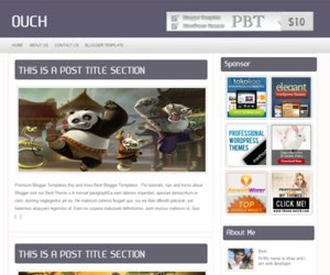 Ouch Blogger Template