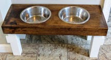 Custom Made Fido Feeder by Timber and Trimmings