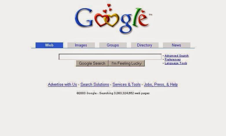 Tampilan Google Dari Tahun ke Tahun 5