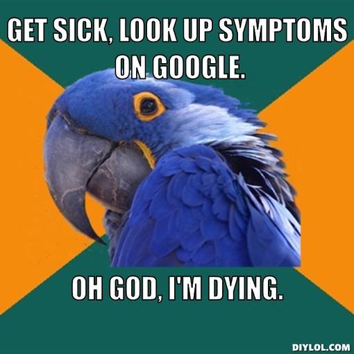 paranoid-parrot-meme-generator-get-sick-