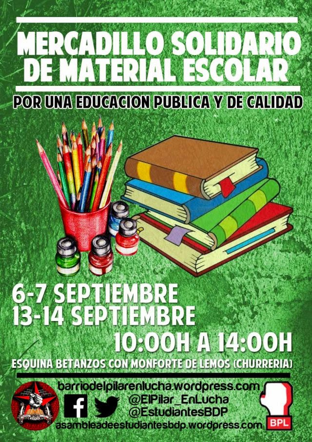 Mercadillo Solidario Material Escolar