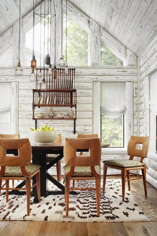whitewashed modern cabin