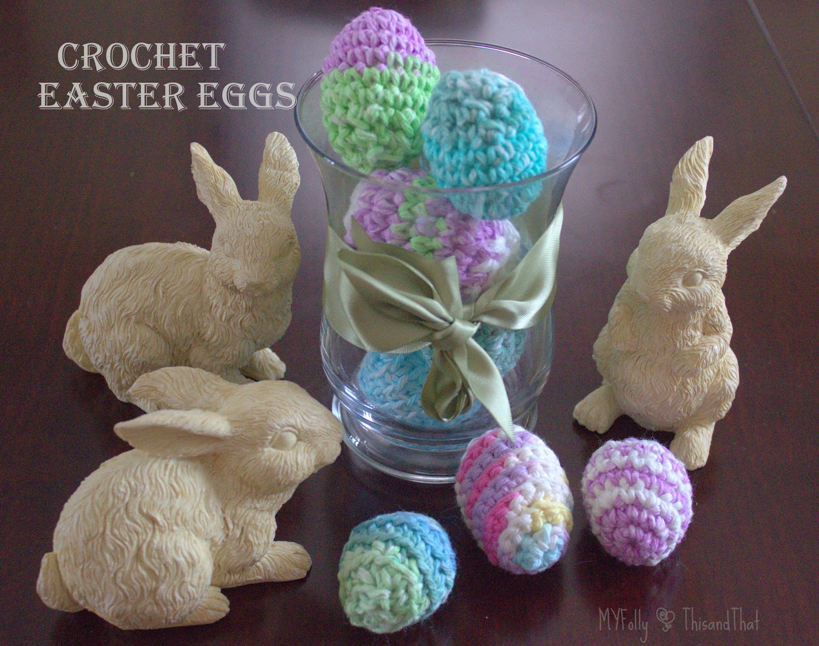 Decorating with crochet Easter Eggs #crochet #easter #craft