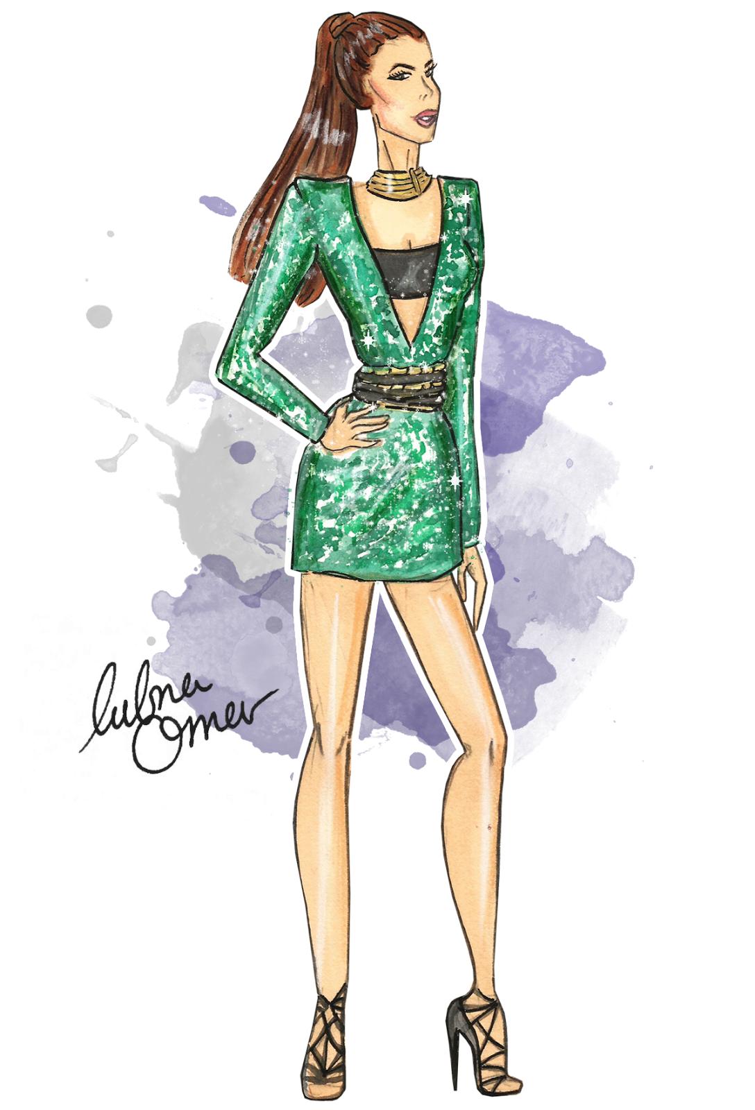 Hilda Khalife in Balmain x H&M