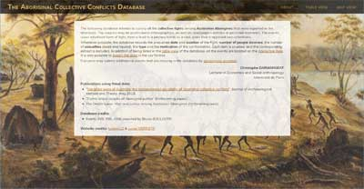The Aboriginal Collective Conflicts Database