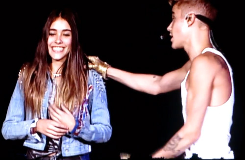 Justin Bieber sings 'Happy Birthday' to Madison Beer in concert at the O2 Arena!