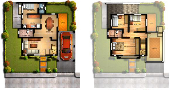 Ynez House Model Floor Plan at Mission Hills Antipolo