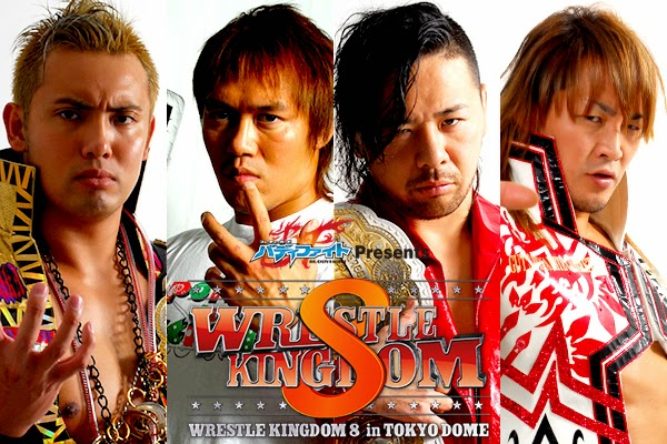 NJPW Wrestle Kingdom 8 Poster New Japan Pro Wrestling Nakamura Tanahashi Okada Naito IWGP