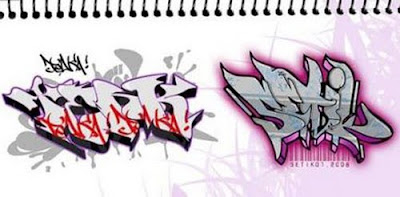 Draw graffiti On Paper, graffiti