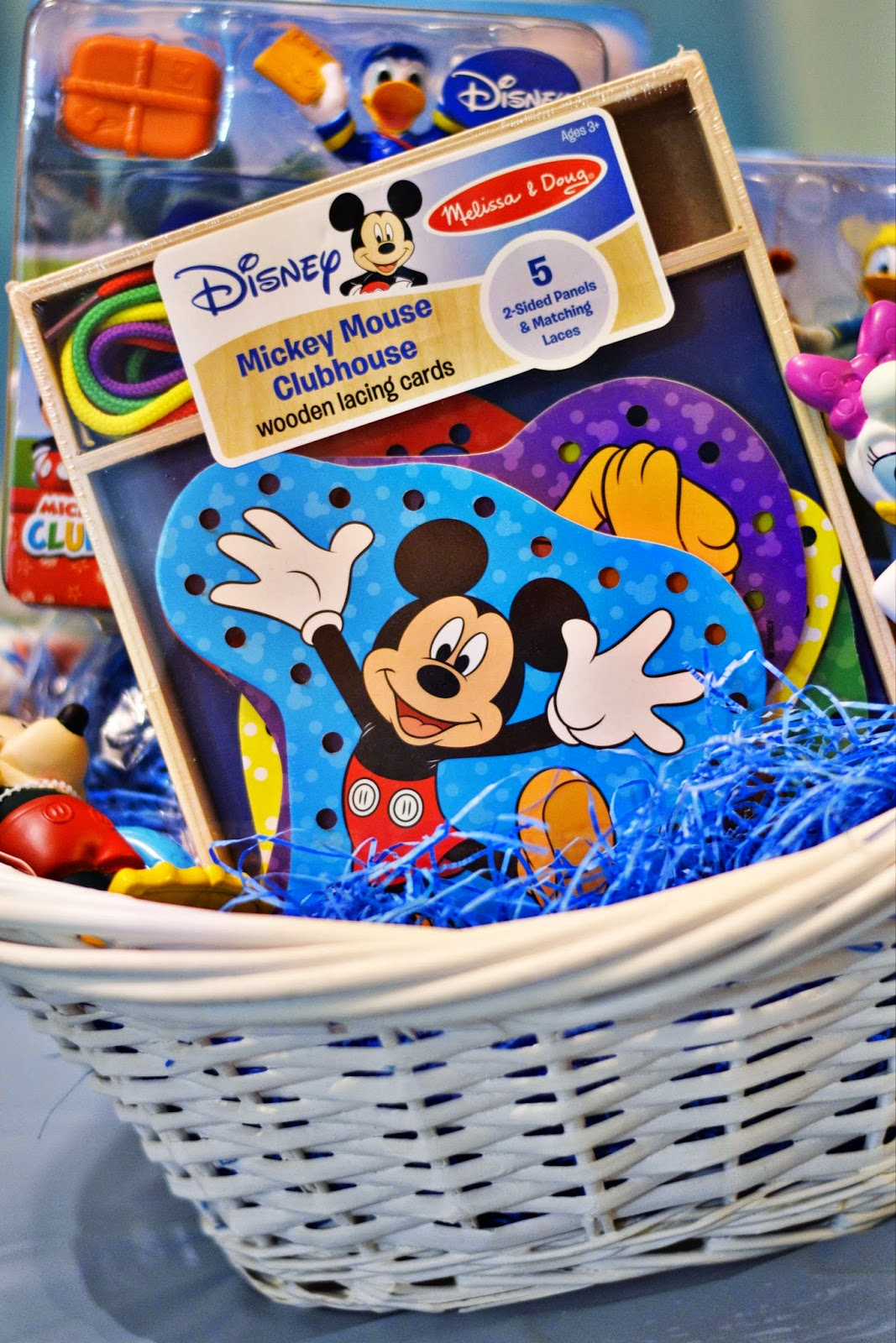 Do tell anabel diy donald duck easter basket featuring disney first you stuff the basket with all the disney junior toys and easter eggs as you wish walmart sells disney themed fillable eggs too negle Images