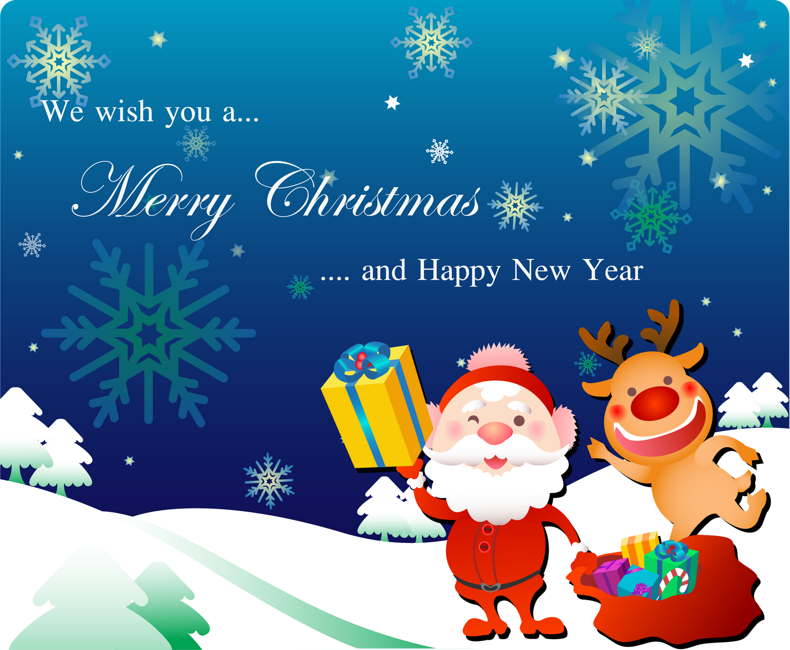 i export it to png in 300dpi high resolution so you can print it out and spread spirit of christmas - Santa Claus Christmas Cards