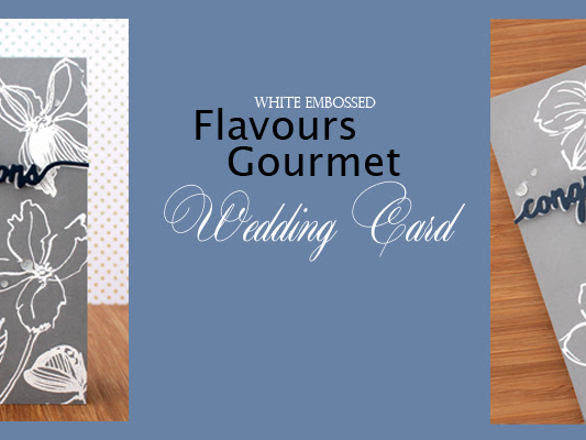 Flavours Gourmet White Embossed Wedding