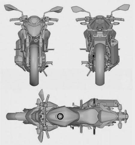 Sketsa Kawasaki Ninja RR Mono Versi Naked Bike Disiapkan