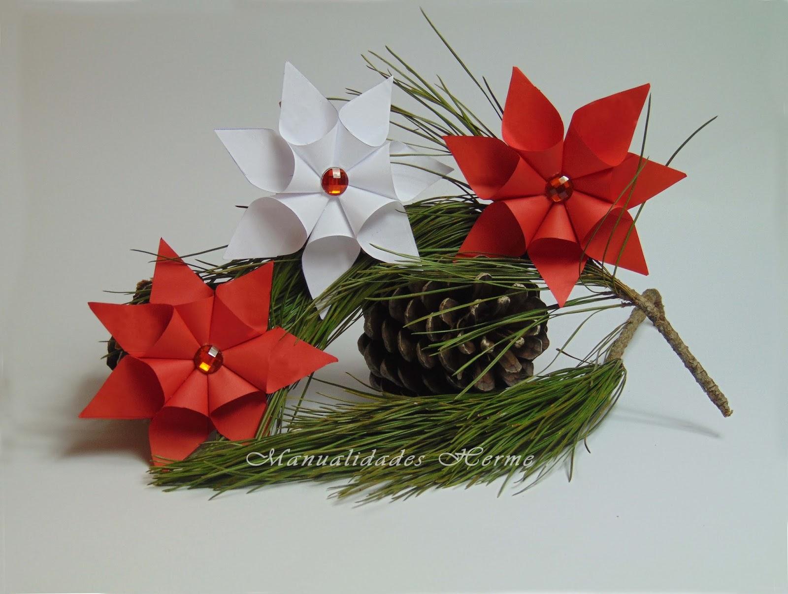 Manualidades herme diy flor de nochebuena - Www como hacer flores com ...