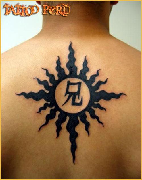 Las mejores fotos de Tatuajes para que puedas conocer como quedan en todas las zonas del cuerpo, así como también todo tipo de tatuajes para que disfrutes de obras de artes:  01_tribal_de_sol
