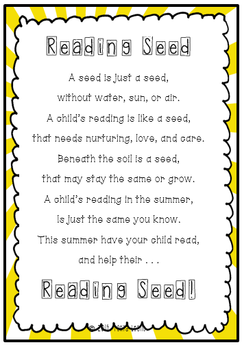 Summer Reading 1st Grade