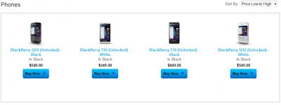 Si te apetece comprar un BlackBerry Z10 o BlackBerry Q10, ahora puedes hacerlo a través del sitio de BlackBerry y lo mejor de todo es que es desbloqueado para todas las operadoras a nivel mundial. Comunicado de Prensa: WATERLOO, ONTARIO-(Marketwired – 17 de octubre 2013) – BlackBerry (R) (NASDAQ: BBRY) (TSX: BB) anunció hoy que los clientes de los EE.UU. pueden comprar teléfonos inteligentesBlackBerry en línea directamente desde el BlackBerry ShopBlackBerry.com. Los primeros modelos disponibles para su compra en ShopBlackBerry.com son el BlackBerry Z10 y BlackBerry Q10 que están disponibles tanto en los modelos de color blanco y negro. Losteléfonos