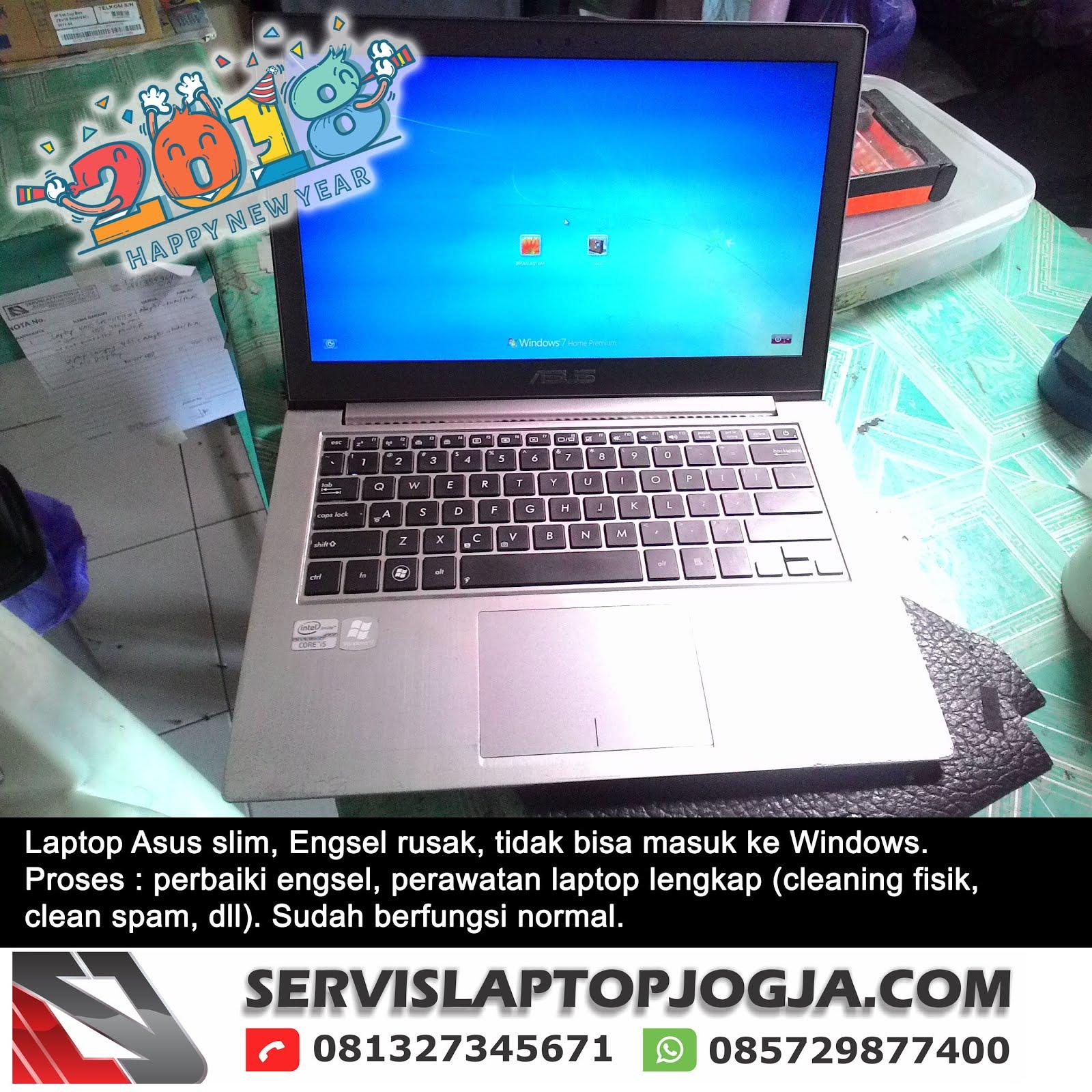 Laptop Asus Slim Engsel Rusak Gagal Boot