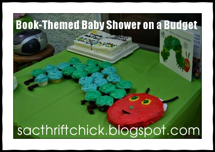 book themed baby shower on a budget