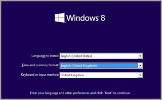 windows 8 language setting