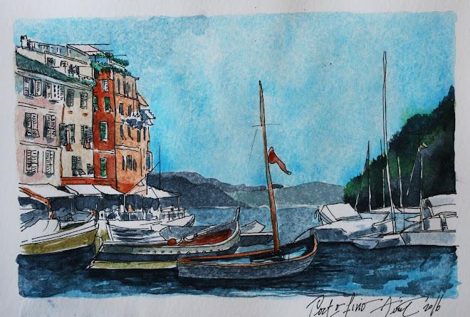 Carnet de voyage. Portofino, Italie
