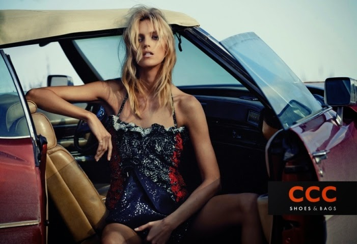 CCC Shoes and Bags Spring/Summer 2015 Campaign featuring Anja Rubik