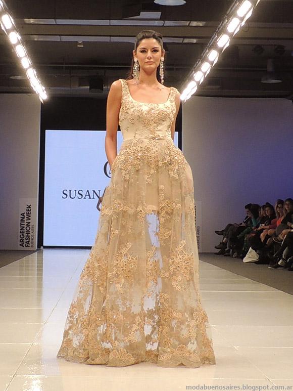 Susana Ortiz primavera verano 2015. Vestidos de fiesta largos 2015.