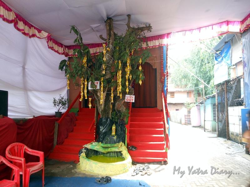 Lord Ganpati Pandal entrance, Ganesh Pandal Hopping, Mumbai