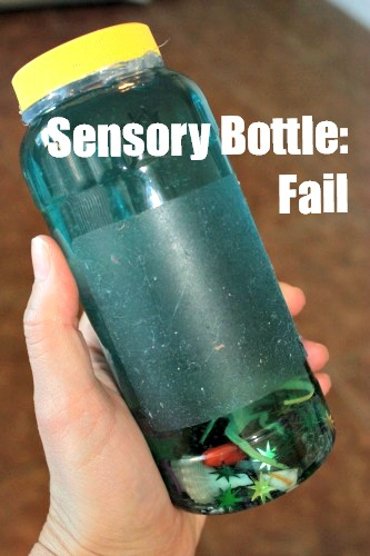Hilarious craft fail making sensory bottles -clever nest