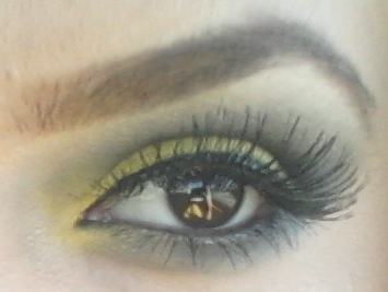 Bumble Bee Makeup http://tiinaxoxo.blogspot.com/2012/05/bumble-bee-makeup-look-makeup-used-face.html