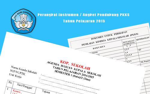 Perangkat Instrumen Dokumen Pendukung Pkks Tahun Pelajaran 2016 Operator Sekolah