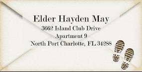 Elder May's Current Address